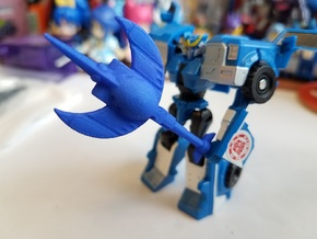 3mm Robots in Disguise Sawtooth Trident in Blue Processed Versatile Plastic