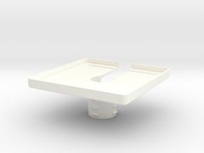 Mic Bracket 3.0 in White Processed Versatile Plastic