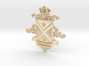 Black Family Crest in 14k Gold Plated Brass