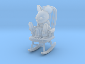 Mouse in Rocking Chair in Smooth Fine Detail Plastic