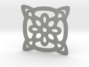 Cup coaster - pattern II in Gray Professional Plastic