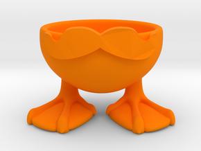 MOUSTACHE DUCK EGGCUP in Orange Processed Versatile Plastic