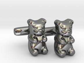 Gummy Bear Cufflinks in Polished Silver