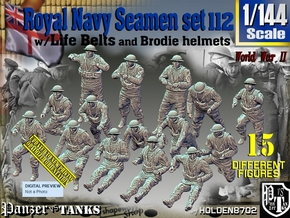 1/144 Royal Navy Seamen Set112 in Smooth Fine Detail Plastic