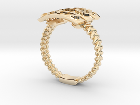 Hagit's Woven Family Ring in 14k Gold Plated Brass