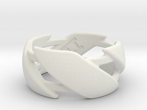 US10 Ring III in White Premium Versatile Plastic