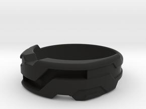 US14 Ring XXI: Tritium (Silver) in Black Premium Versatile Plastic