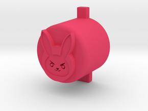 d.va button in Pink Processed Versatile Plastic