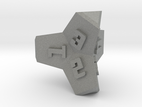 Brutalist Dice Set — Version 2 Singles in Gray Professional Plastic: d4