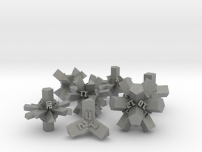 Brutalist Dice Set — Version 1 (7 pc.) in Gray Professional Plastic