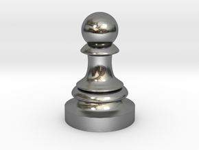 Pawn - F[1,0M/1,1C] Classic in Polished Silver