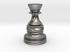 Wazir-Rider (Rook) - [1,0] Classic in Polished Silver
