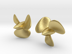 1/128 HMS Hood Brass Propellers x2 (Port&Star) in Natural Brass