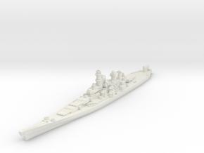 Iowa class battleship 1/2400 in White Natural Versatile Plastic