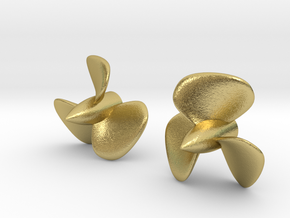 1/400 HMS Hood Brass Propellers x2 (Port&Star) in Natural Brass