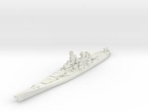Iowa class battleship 1/1800 in White Natural Versatile Plastic