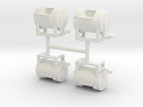 1/50th Mack type round fuel tanks in White Natural Versatile Plastic