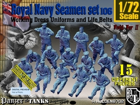 1/72 Royal Navy Seamen Set 106 in Smooth Fine Detail Plastic