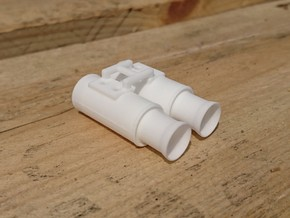 1:10 Drift Exhaust - GP Flared set in White Processed Versatile Plastic