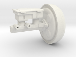 Master Cylinder and Booster 1:10 scale in White Natural Versatile Plastic