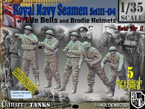 1/35 Royal Navy Seamen Set111-04 in Smooth Fine Detail Plastic