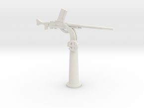 1/48 IJN Type 93 13mm Single Mount AA Gun in White Natural Versatile Plastic