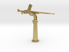 1/48 IJN Type 93 13mm Single Mount AA Gun in Natural Brass