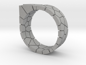 Generative Voronoi Ring 01 in Aluminum