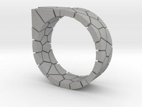 Generative Voronoi Ring 01 in Aluminum