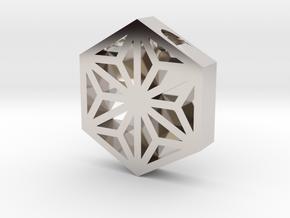 Hemp Leaf Pattern in Platinum
