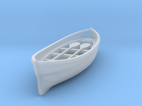 S Scale Life Boat in Smooth Fine Detail Plastic