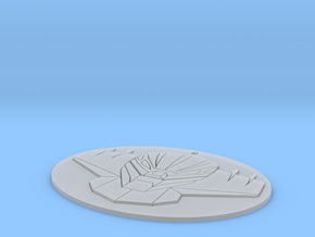Jeeg Medallion in Smooth Fine Detail Plastic