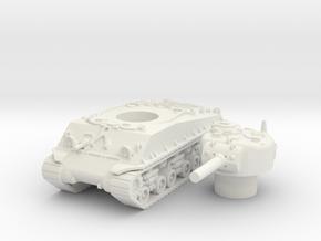 M4A3 105mm scale 1/100 in White Natural Versatile Plastic