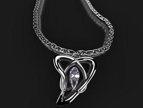 natural heart  in Fine Detail Polished Silver