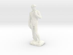Michelangelo's David voxelized in White Processed Versatile Plastic