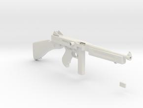 1/3 Scale 1941 Thompson Submachine Gun in White Natural Versatile Plastic