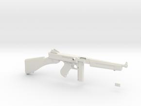 1/4 Scale 1941 Thompson Submachine Gun in White Natural Versatile Plastic