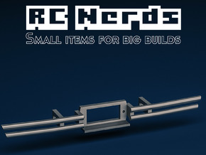 RCN137 Metal bumper with Fairlead winch mount in Polished Bronzed-Silver Steel