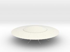 UFO10 in White Natural Versatile Plastic