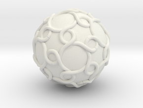 Color Link With Icosahedral Symmetry in White Natural Versatile Plastic