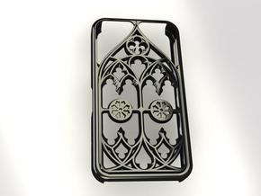 iPhon 4/4s case Gothic style in White Natural Versatile Plastic