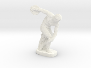 Discobolus voxelized in White Processed Versatile Plastic