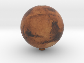Mars with relief 1:100 million in Natural Full Color Sandstone
