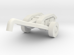 goliath (with trailer) scale 1/144 in White Natural Versatile Plastic