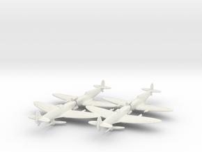 1/200 Spitfire MK VC x4 in White Natural Versatile Plastic
