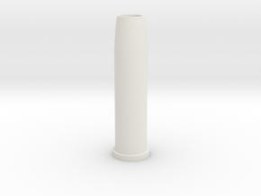 Airsoft WinGun Revolver Compatible 6mm 1-BB Shell in White Natural Versatile Plastic