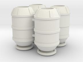 DeAgo Falcon Main Hold Floor Big Barrels With Lids in White Premium Versatile Plastic
