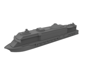 1:1250 MSC Seaside Cruise Ship - Miniature Ship in Smooth Fine Detail Plastic: 1:1250