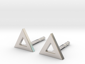 Vision stud earrings in Rhodium Plated Brass