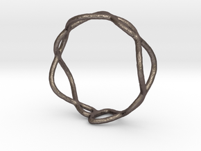 Ring 01 in Polished Bronzed-Silver Steel